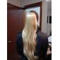 Haut Grade synthétique longue queue de cheval blonde droite