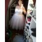 Ball Gown Plus Sizes Wedding Dress - Ivory Knee-length Sweetheart Taffeta/Tulle