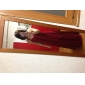 Vestido de Dama de Honor/Fiesta de Boda de Gasa Hasta el Suelo con Corte Columna