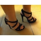 sandalias de plataforma de tacón de aguja con zapatos de ante hebilla Fiesta y Noche de las mujeres