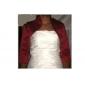 mangas 3/4 de longitud hermosas raso de novia chaqueta de la tarde / de la boda del bolero envoltura de encogimiento