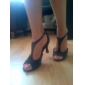 Women's Satin Upper Ballroom Dance Shoes Peep Toe Latin Shoes
