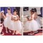 Цветочница платье - Принцесса Длина ниже колен Без рукавов Атлас/Тюль