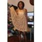 TS Gold Lace backless Swing Dress