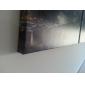 new york stadsbild sträckt duk väggklocka uppsättning av 3