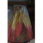 Fiesta de baile/Fiesta formal Vestido - Estampado Corte Recto Hasta el Suelo - Escote Corazón/Strapless Gasa Tallas grandes