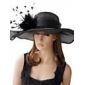 Capacete Chapéus Ocasião Especial Linho Mulheres Ocasião Especial