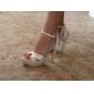 unika silke stilett klack sandaler med spänne fest / kväll skor