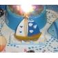 Temă Plajă Favoruri lumânare Piece / Set Lumânări Nepersonalizat Albastru / Galben