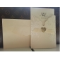 Simple Embossed Wedding Invitation With Ribbon (Set of 50)