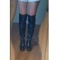 talon compensé en similicuir dessus du genou bottes parti / chaussures de soirée plus de couleurs ()