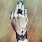 handgemaakte zwart kant rococo stijl gothic lolita ring armband