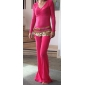 Dancewear Crystal Cotton Belly Dance Outfit Top and Bottom For Ladies More Colors