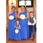 신부 들러리 드레스 - 오렌지 시스/컬럼 바닥 길이 원 숄더 쉬폰 플러스 사이즈