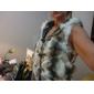 bont vest met mode in imitatiebont met mouwloze capuchon kraag vest