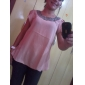 Women's Beaded Neckline Puff Sleeve T-shirt