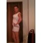 Vestito Da donna Mini Pizzo Monospalla Senza maniche Pizzo/Poliestere/Altro