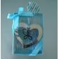 butterfly og hjerte rustfritt stål bokmerke favør