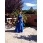 Linia -A Haine Bal Bateau Neck Lungime Podea Satin Bal Seară Formală Bal Militar Rochie cu Mărgele Drapat de TS Couture®