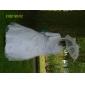 A-line curte de curte curcubeu de flori - satin de satin mâneci fără curea curea cu aplicații de lan ting bride®