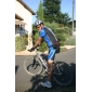 Kooplus-Men's Cycling Jersey + BIB Shorts Cycling Suits Short Sleeve (Blue and Black)