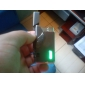 Windproof Metal Oil Lighter With Green LED Light