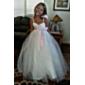 A-line rochie cu bile lungime floare rochie fata rochie - tul fără mâneci spaghete curele de lan ting bride®