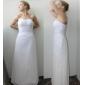 Sheath/Column Plus Sizes Wedding Dress - White Ankle-length Sweetheart Chiffon