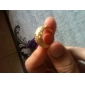 Gorgeous Cubic Zirconia 18K Gold Plated Spiral Fashion Ring