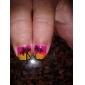3st nagel konst penslar med Multi-color Handtag