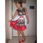 TS Ethnic Print Wasp Waist Swing Dress