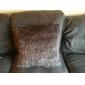villosités polyester taie d'oreiller décoratif gris