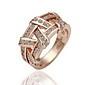 magnífico circonio cúbico de oro 18k se entrecruzan la moda del anillo