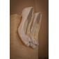 dentelles au talon / satiné stiletto supérieure fermée orteils avec des chaussures de mariée mariage dentelles