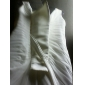 Sheath/Column Plus Sizes Wedding Dress - Ivory Court Train Straps Chiffon