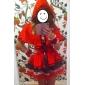Cosplay Kostymer/Dräkter Festklädsel Sagolikt Festival/högtid Halloweenkostymer Röd Lappverk Klänning Hatt Halloween Karnival Kvinna