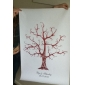 Personalized Fingerprint Painting Canvas Prints - Brown Tree (Includes 6 Ink Colors, Frame Not Included)