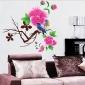 Blomma Fjäril Spiral Wall Sticker