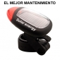 Solar Power Bike Bicycle LED Rear Tail Light Lamp