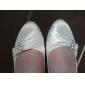 Feminino Wedding Shoes Conforto/Bailarina Sapatilhas Casamento Preto/Azul/Rosa/Vermelho/Marfim/Branco/Prateado