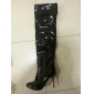 Patent Leather Stiletto Heel Closed Toe Knee High Boots Party / Evening Shoes (More Colors)