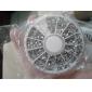 3600pcs Silver Acrylic Rhinestones Nail Art Decorations (2mm)