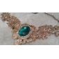 Women's Royal Hollow Big Ruby Short Necklace