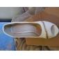 Gorgeous Leatherette Stiletto Heel Peep Toe Med Zipper Party / Evening Shoes (Flere farver)