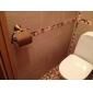 antik messing væghængt toilet rulleholder (1018-j-29-6)