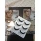 3Pair cils noirs cils faux de fibre