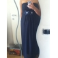 Empire Strapless Floor-length Chiffon Over Satin Bridesmaid Dress