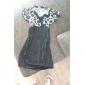 Women's V Neck Mini Dress , Polyester/Others Black Bodycon/Sexy
