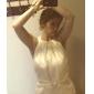 Trumpet/Mermaid Plus Sizes Wedding Dress - Ivory Sweep/Brush Train Jewel Satin