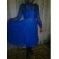 ts Vintage Chiffon Midi-Kleid